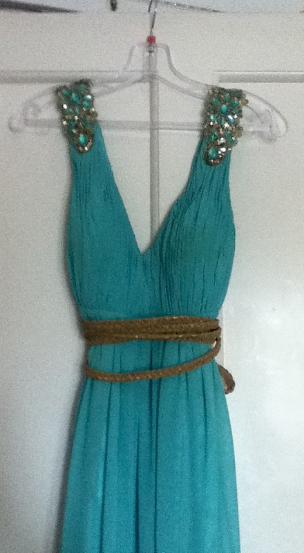 Grecian Style Sea Green Dress